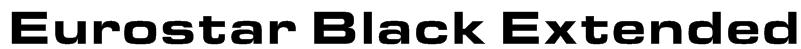 Eurostar Black Extended Font