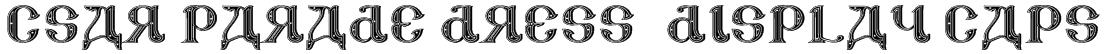 CSAR PARADE DRESS (Display Caps) Font