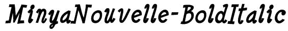 MinyaNouvelle-BoldItalic Font