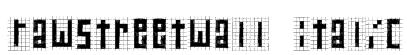 RawStreetWall Italic Font