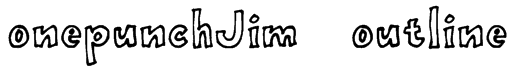 onepunchJim   outline Font