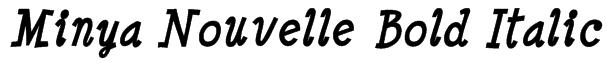 Minya Nouvelle Bold Italic Font