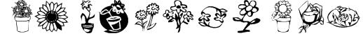 KR Kat's Flowers 3 Font