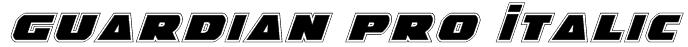 Guardian Pro Italic Font