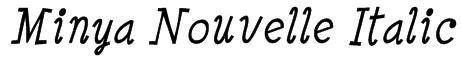Minya Nouvelle Italic Font