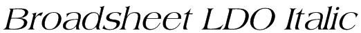 Broadsheet LDO Italic Font