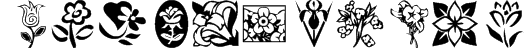 KR Kat's Flowers Font