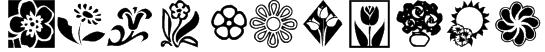 KR Kat's Flowers 2 Font