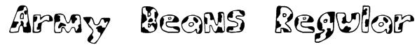 Army Beans Regular Font