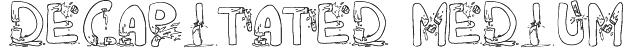 DeCAPitated Medium Font