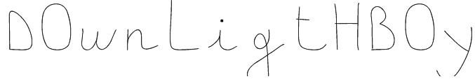 downligthboy Font
