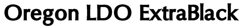 Oregon LDO ExtraBlack Font
