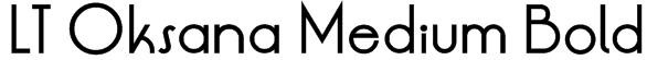 LT Oksana Medium Bold Font