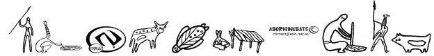 Aboriginebats 2 Font