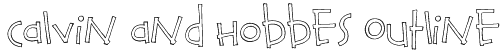 Calvin and Hobbes Outline Font