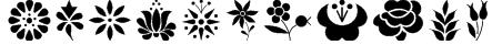 Kalocsai Flowers Font