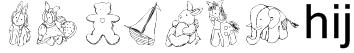 KR Baby's Favorites Font