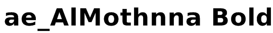 ae_AlMothnna Bold Font