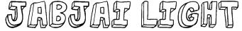 jabjai Light Font