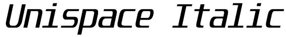 Unispace Italic Font