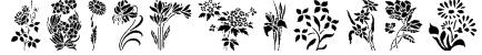 HFF Floral Stencil Font