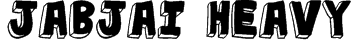 jabjai Heavy Font