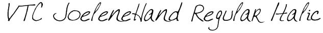 VTC JoeleneHand Regular Italic Font