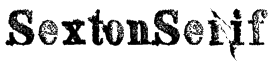 SextonSerif Font