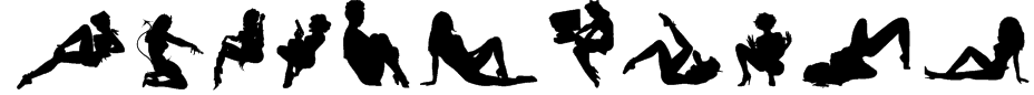 Darrians Sexy Silhouettes 4 Font