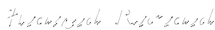 Hand Road Font