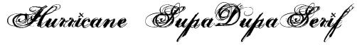 Hurricane  SupaDupaSerif Font