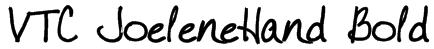 VTC JoeleneHand Bold Font
