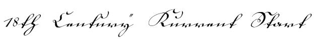 18th Century Kurrent Start Font