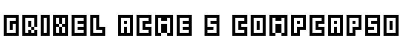 Grixel Acme 5 CompCapsO Font