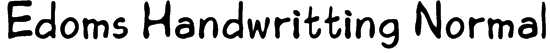 Edoms Handwritting Normal Font