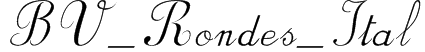 BV_Rondes_Ital Font