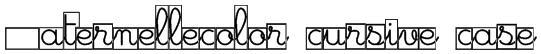 Maternellecolor cursive case Font