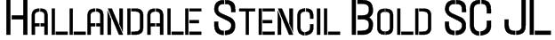 Hallandale Stencil Bold SC JL Font