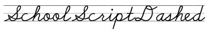 SchoolScriptDashed Font