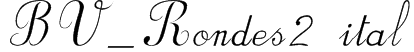 BV_Rondes2 ital Font