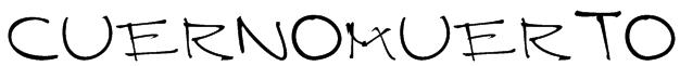 CUERNOMUERTO Font