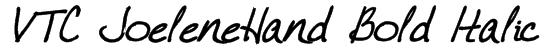 VTC JoeleneHand Bold Italic Font