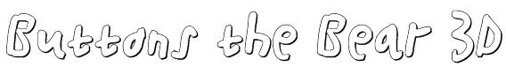 Buttons the Bear 3D Font