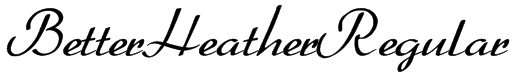 BetterHeatherRegular Font