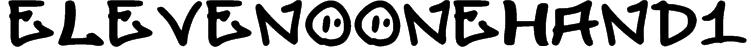 elevenoonehand1 Font