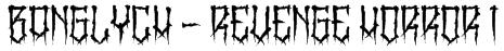 BangLYCH - Revenge Horror I Font
