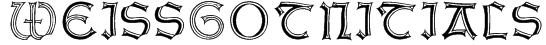 WeissGotnitials Font