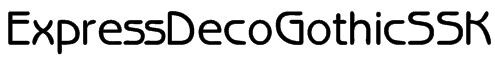 ExpressDecoGothicSSK Font