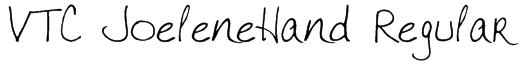 VTC JoeleneHand Regular Font