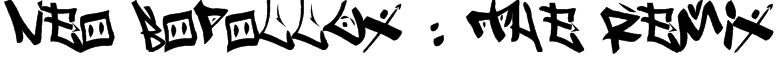 Neo Bopollux : The Remix Font